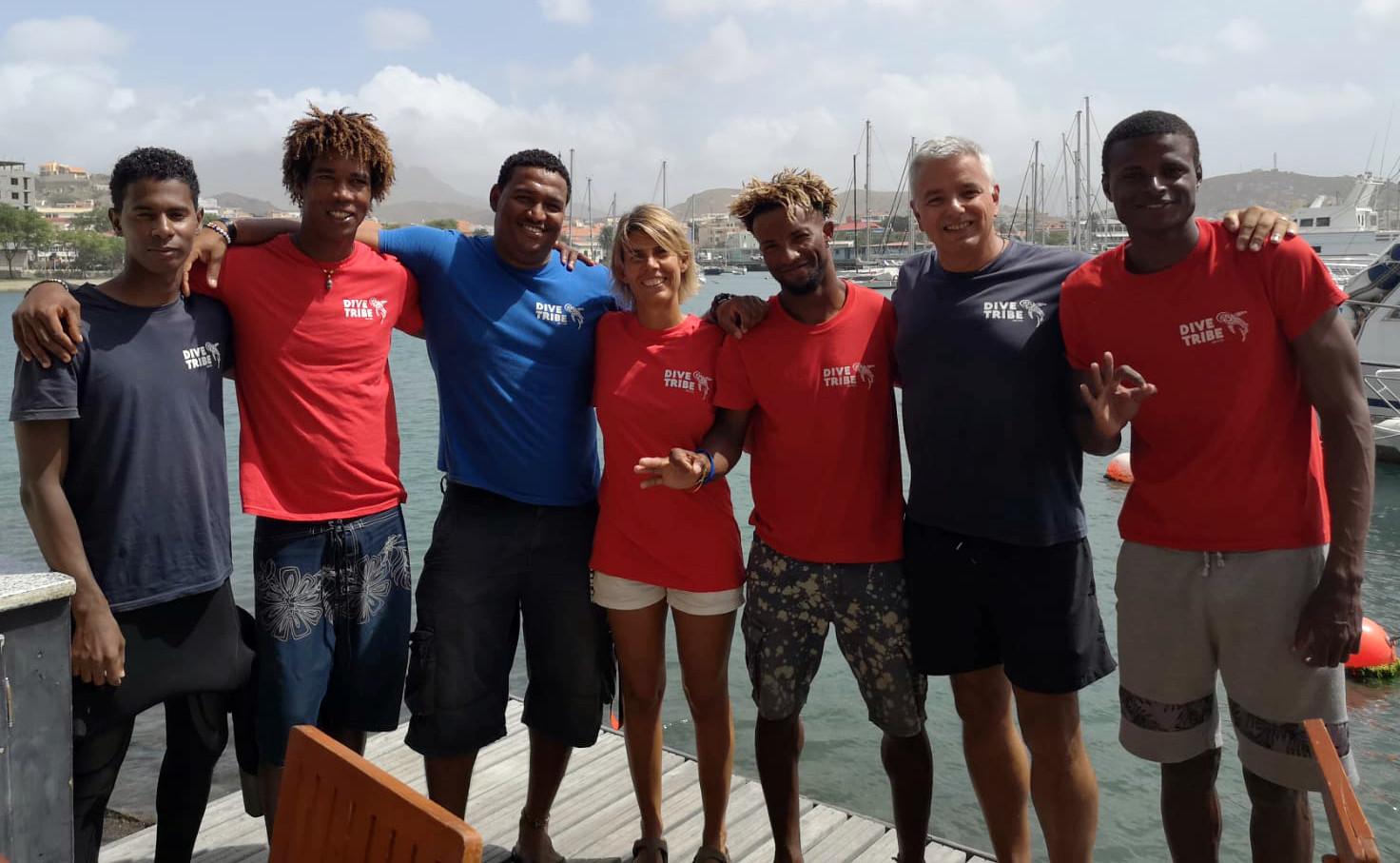 Dive Tribe's crew in Cape Verde.
